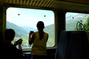 Awesome alpine views from the train