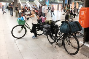 Bikes in the Brussels Station