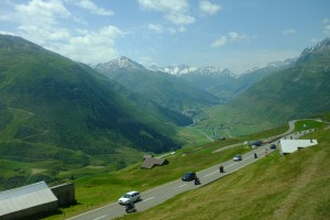 Busy, narrow alpine roads