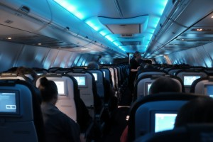 Lighting on Icelandair flight