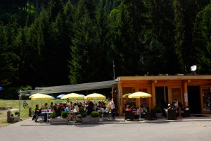 The cafe at Camping Disentis