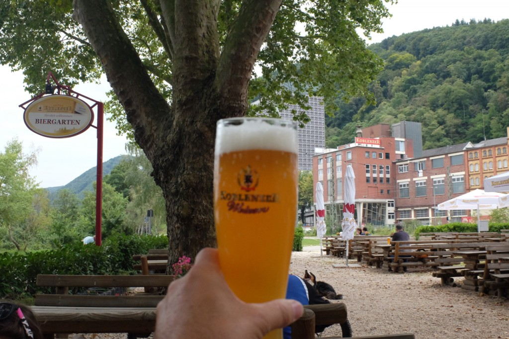 At the Koblenzer biergarten