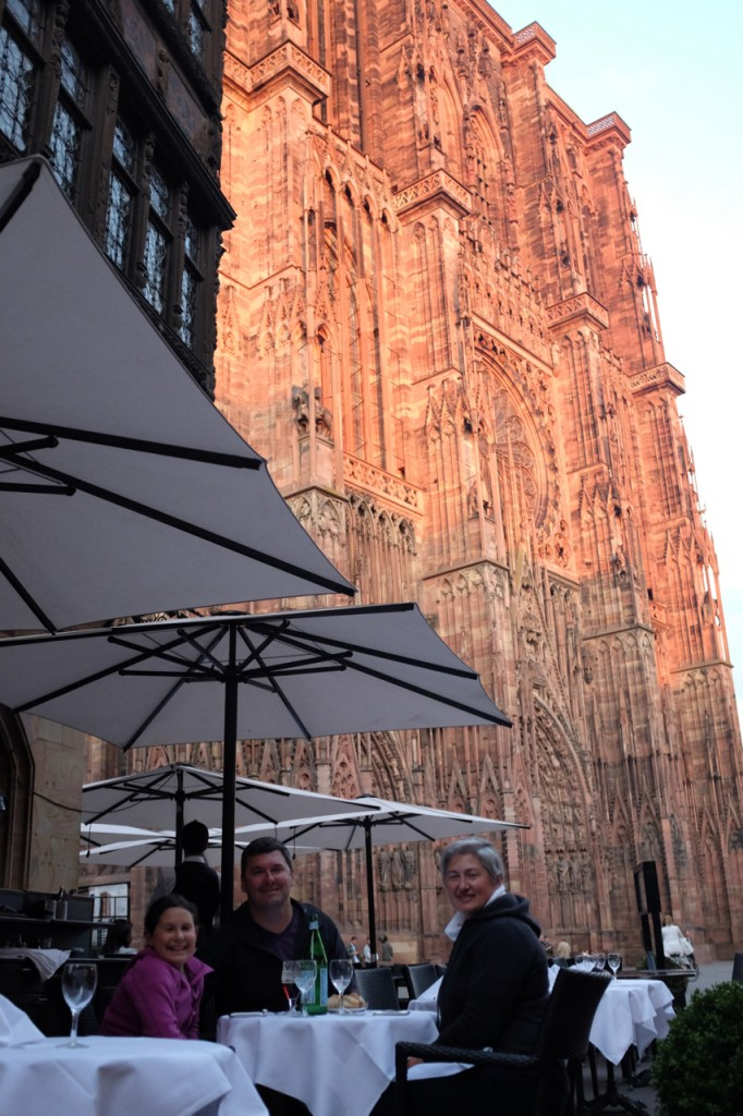 Dinner in front of the cathedral