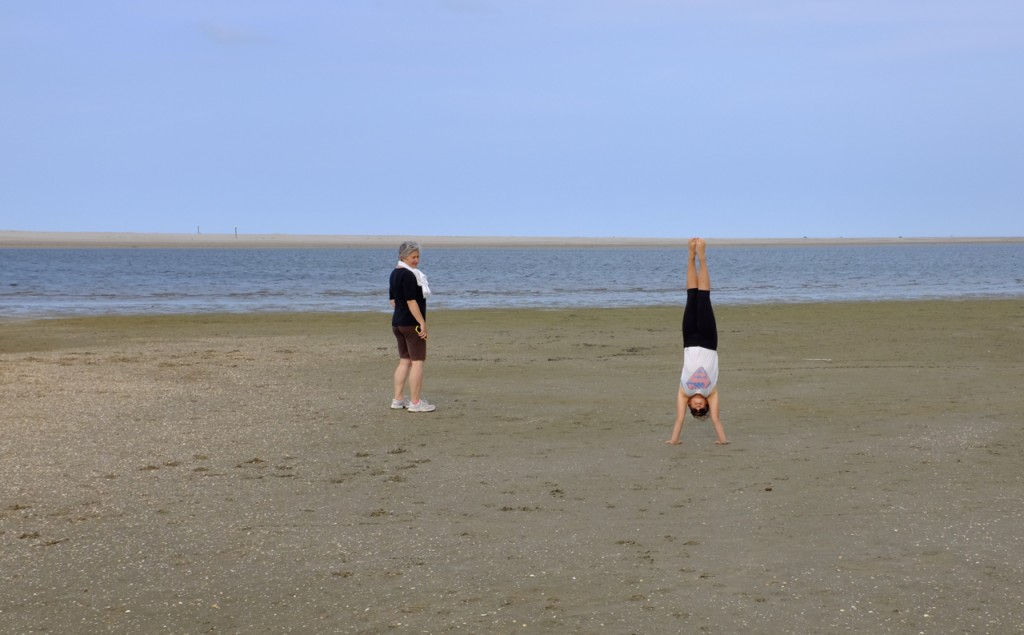 Handstands and a double horizon