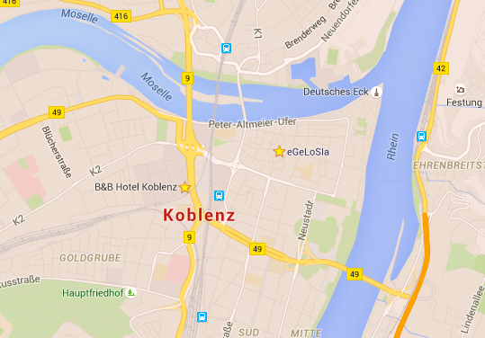 Map of Koblenz