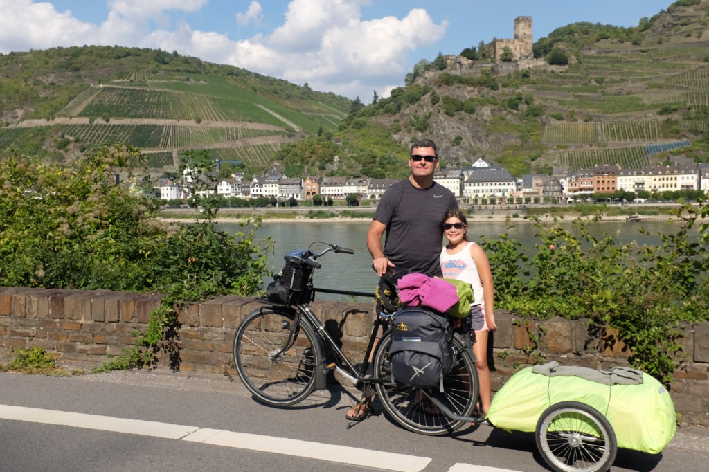 Super cyclists with castle