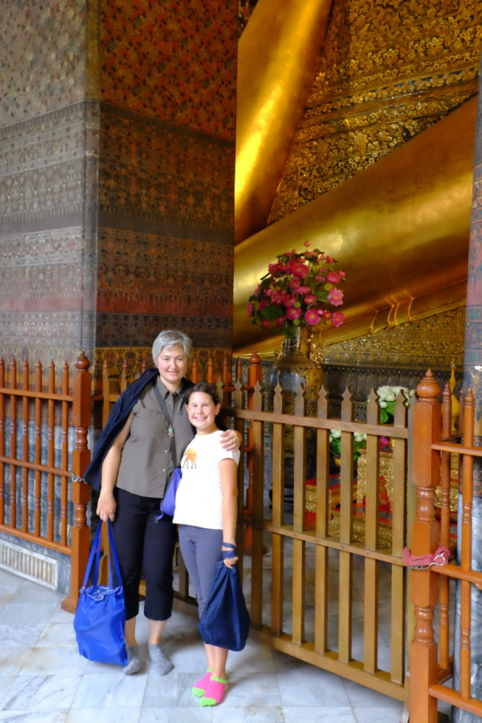Arm of the reclining Buddha statue