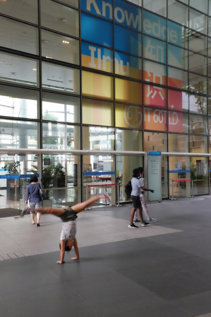 Cartwheels at the Singapore Library