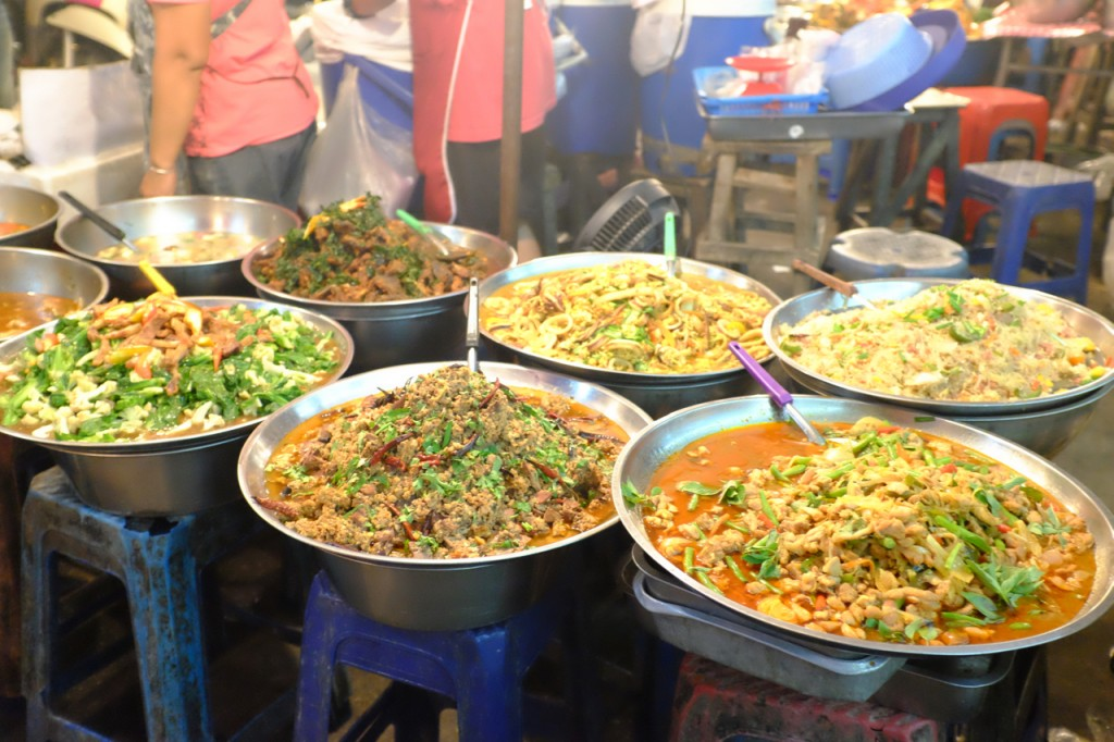 Curries at the street market