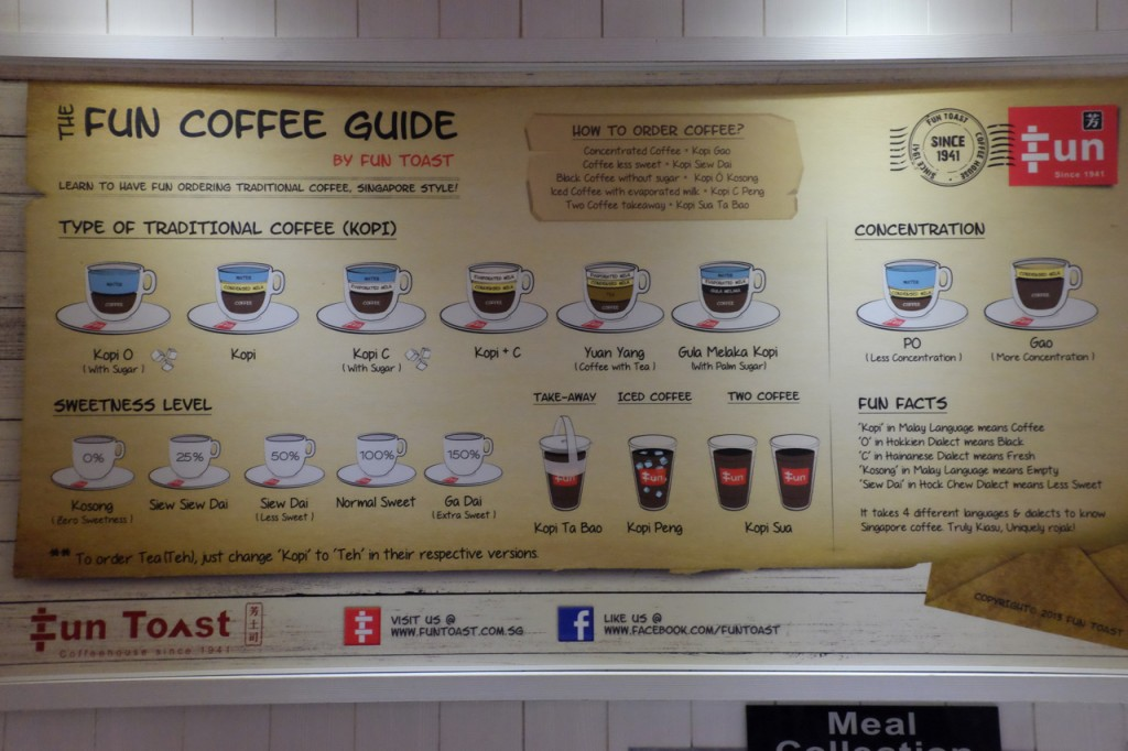 How to order coffee (kopi) in Singapore