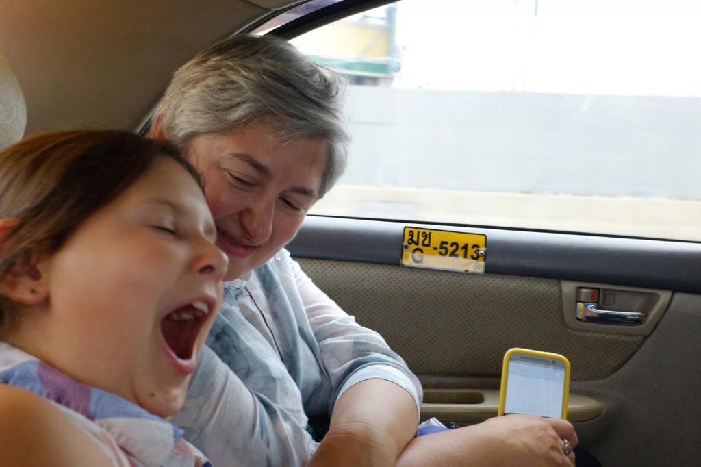 Sleepy taxi