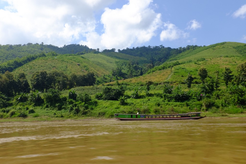 Another river boat and hills stripped of timber (1)