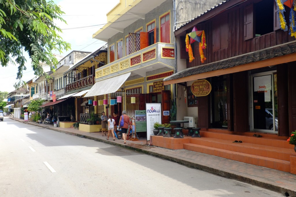 Buildings facing the Mekong