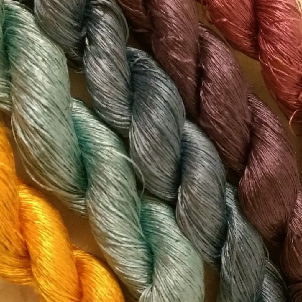 Some of our dyed silk skeins