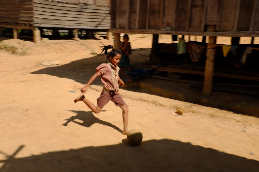 Village soccer action
