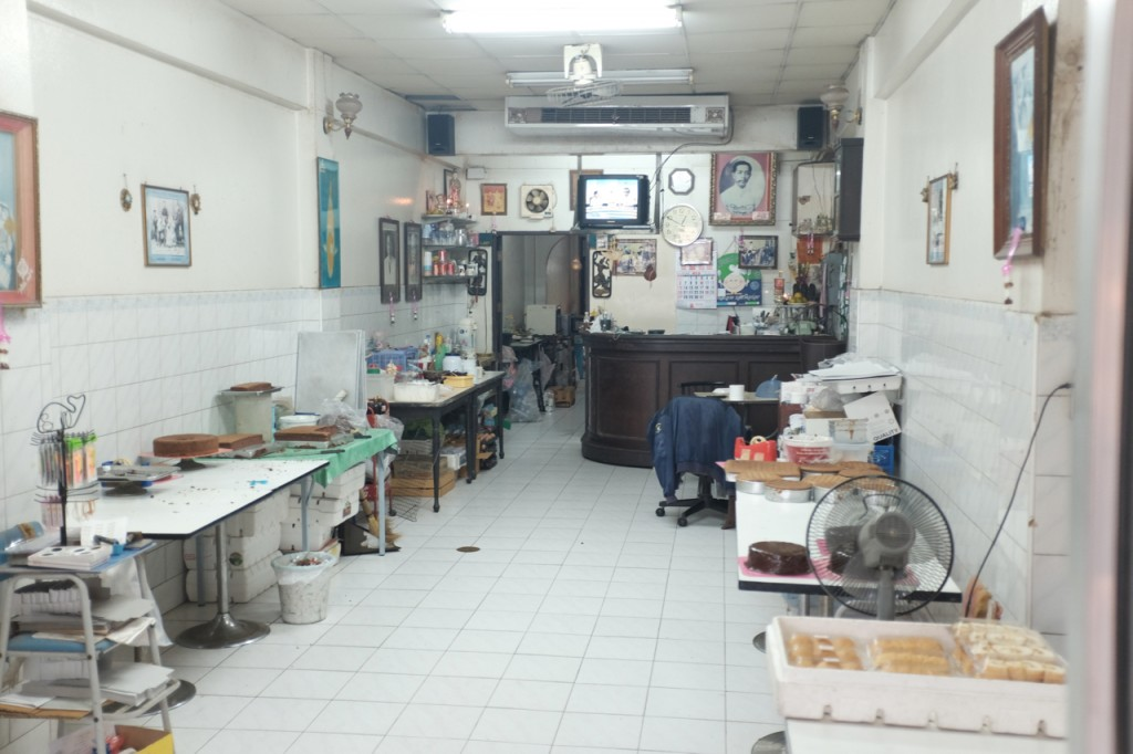 Inside the bakery