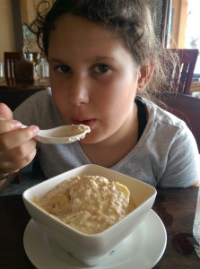 Enjoying some porridge