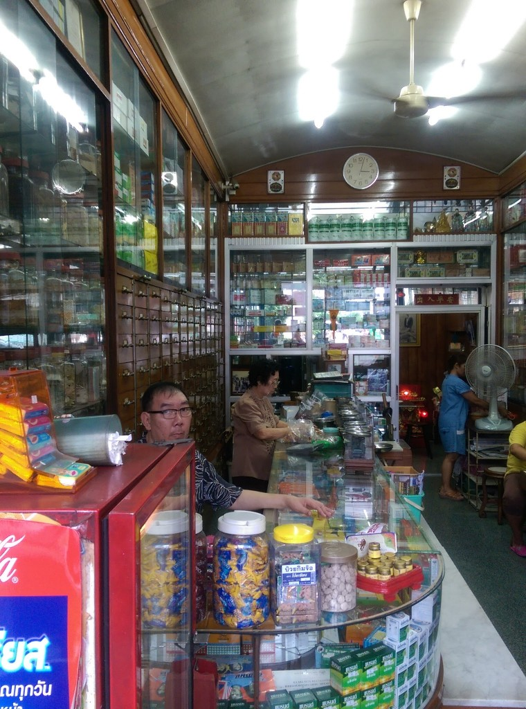 Lovely interior of a Chinese medicine shop