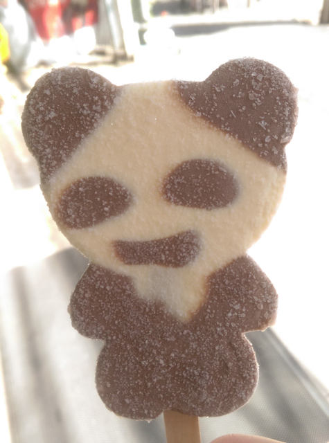 Panda shaped ice cream!