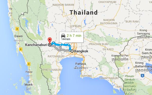 Bangkok to Kanchanburi