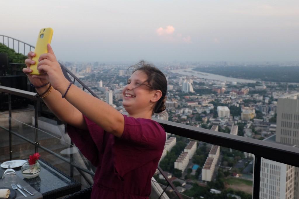 High-altitude selfies are fun.