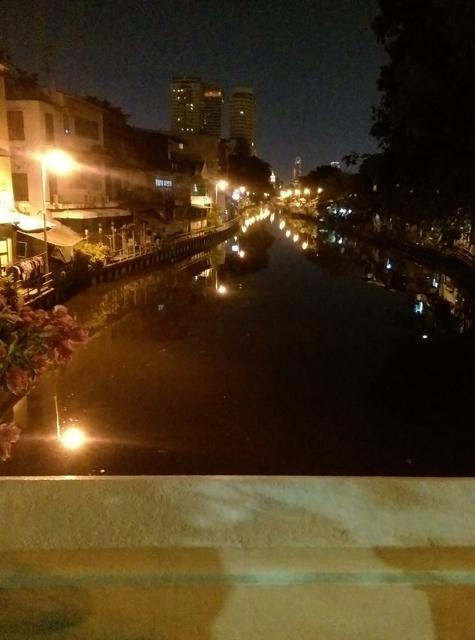 Same view at night