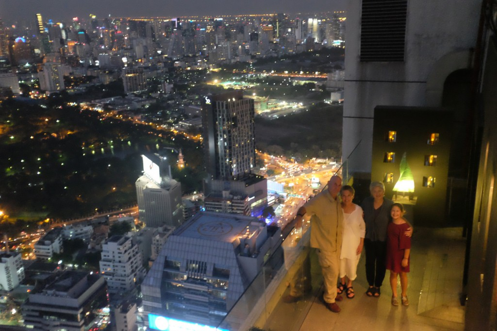 On the roof at the Vertigo Restaurant and Moon Bar, Bangkok.
