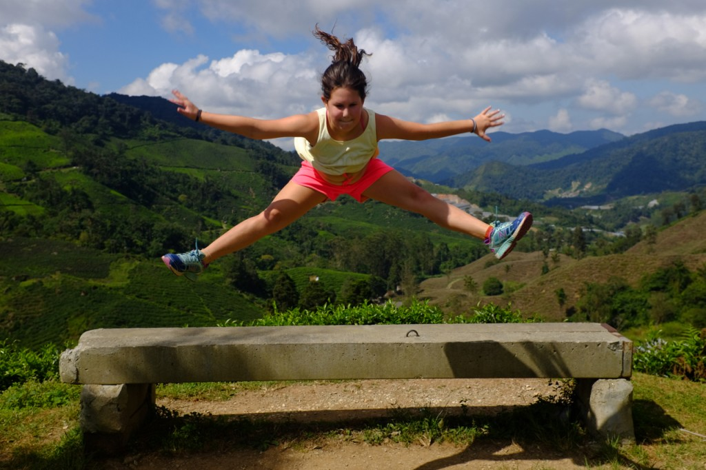 Tea plantation gymnastics