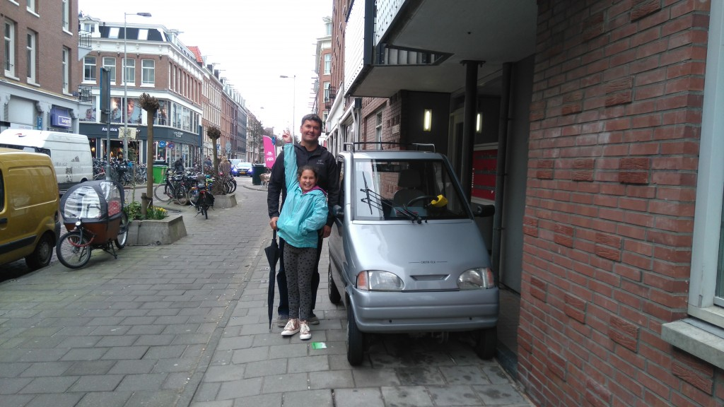 Amsterdam - city of tiny cars that drive in the bike lane and park on the sidewalk.