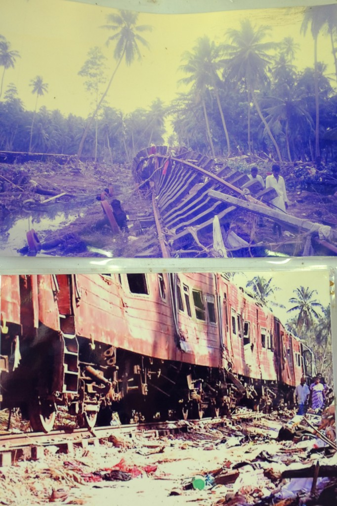 The train was not a safe refuge. As many as 2,000 people were killed when the second wave hit the train.