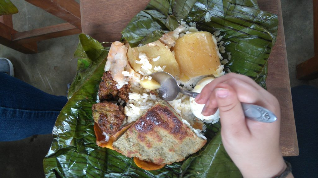 Hearty banana leaf lunch