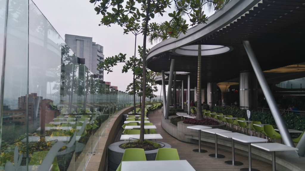 The food court balcony.