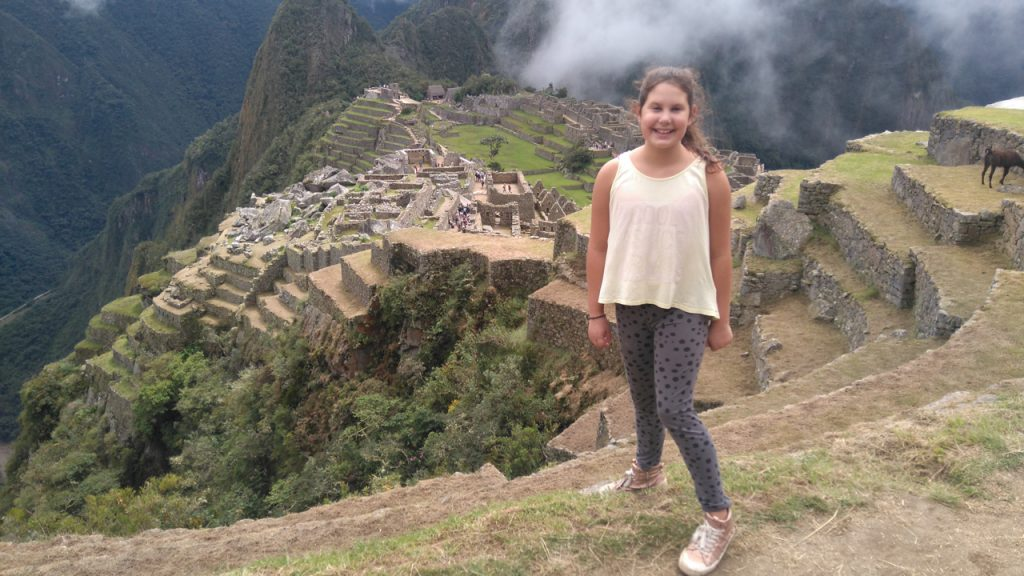 A llama lover at Machu Picchu