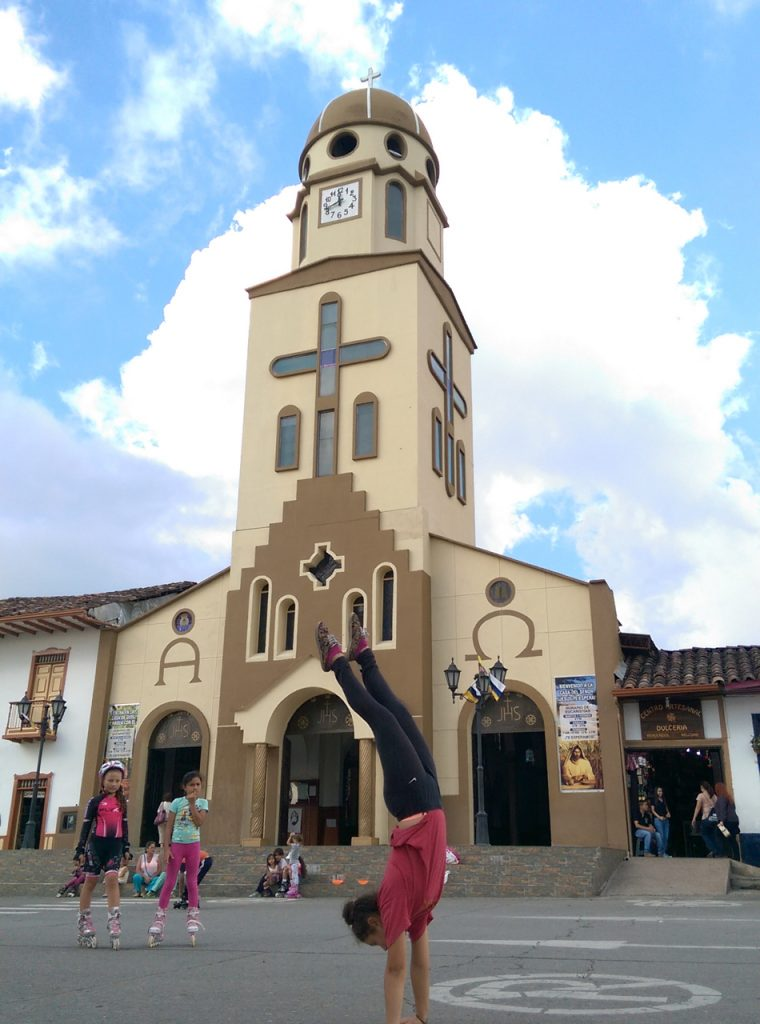 Handstand in Salento, Colombia