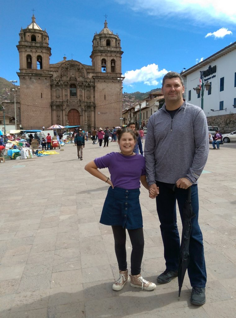 In one of the plazas of Cusco.