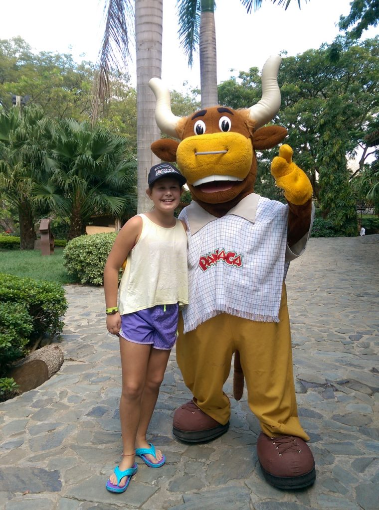 Jette and the Panaca Mascot