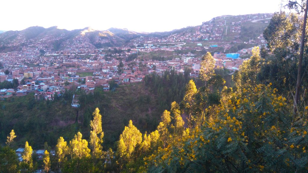 Looking across the valley at Cusco.