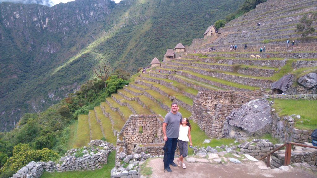 Standing in front of the amazing terraces