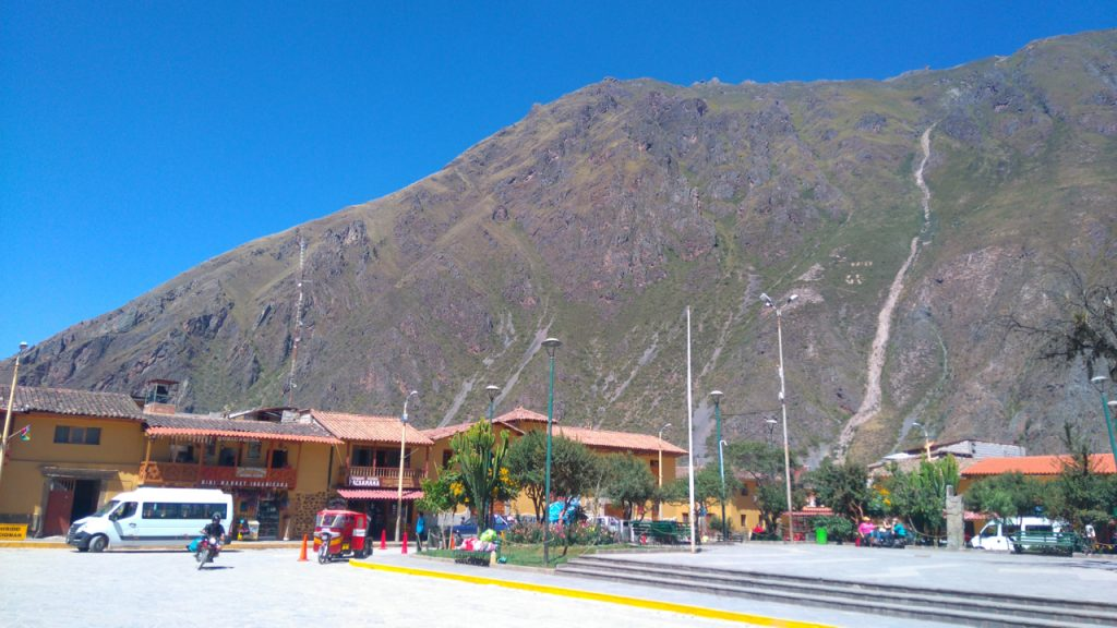 The main square in Ollantaytambo