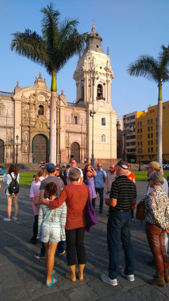 Tour group in the plaza