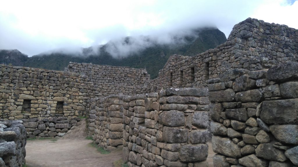Typical structures at Machu Picchu.