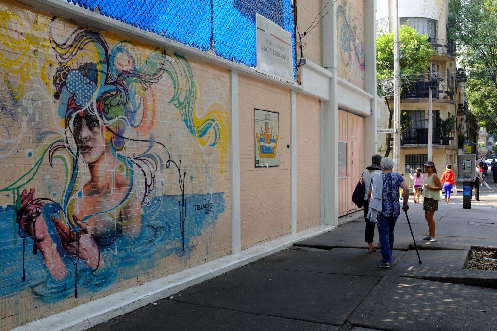 A mural in Roma Norte