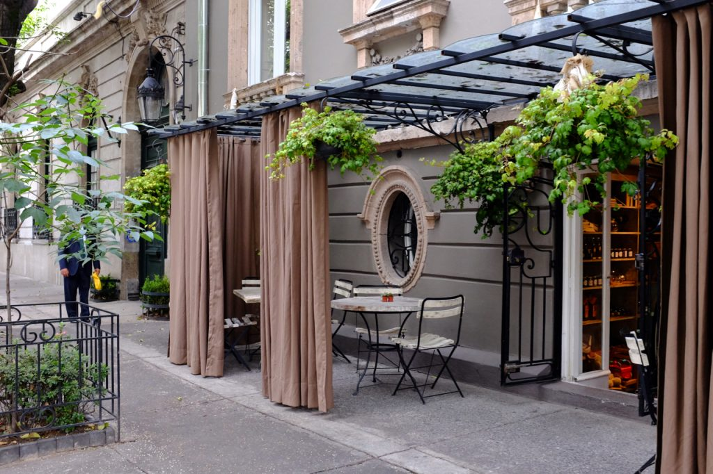 A pretty sidewalk patio