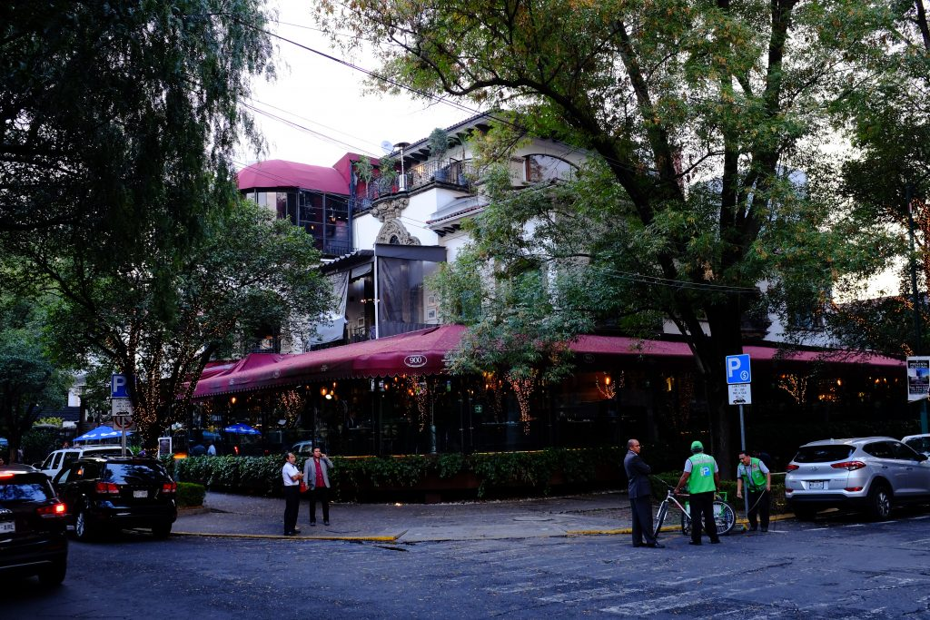 Another restaurant facing the park