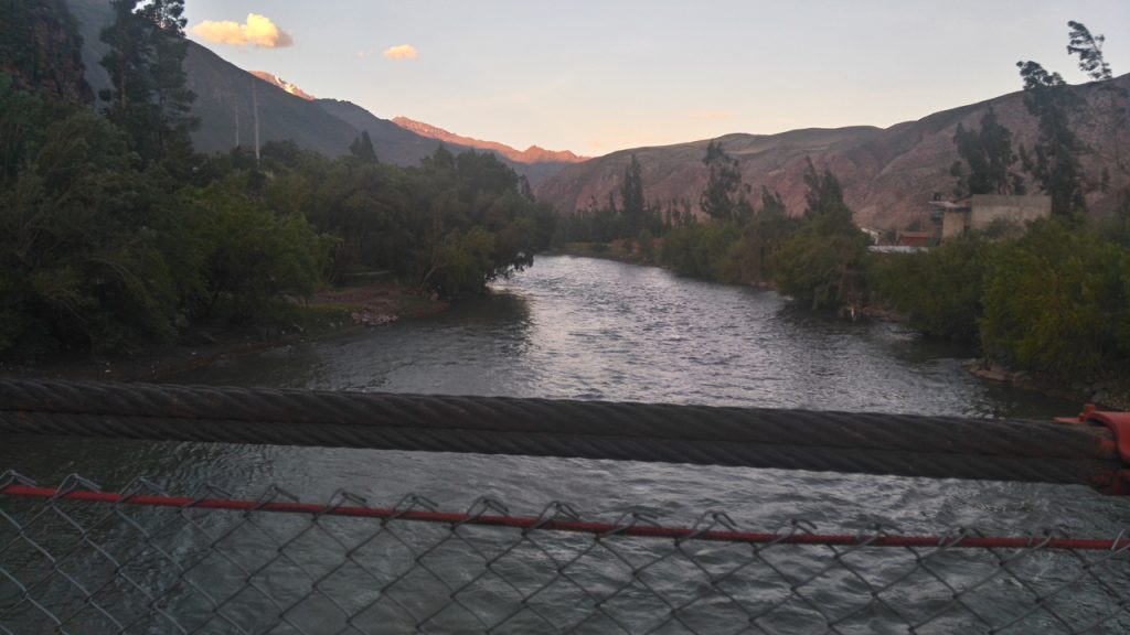 Crossing the Urubamba River