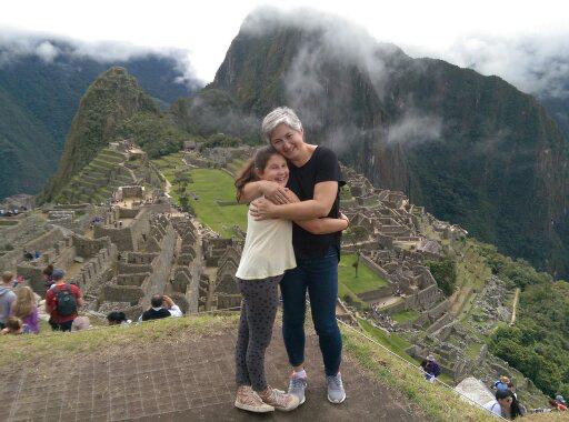 Machu Picchu hug