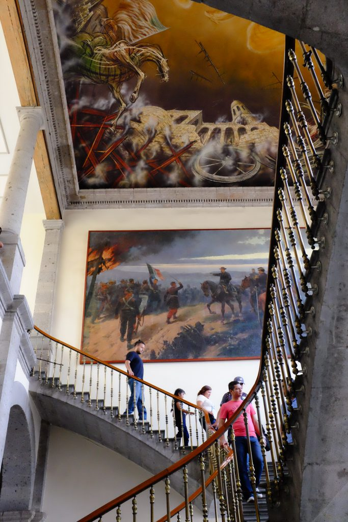 Stairs and murals