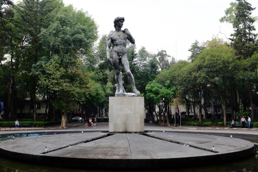 Statue in Plaza Rio de Janeiro Park.