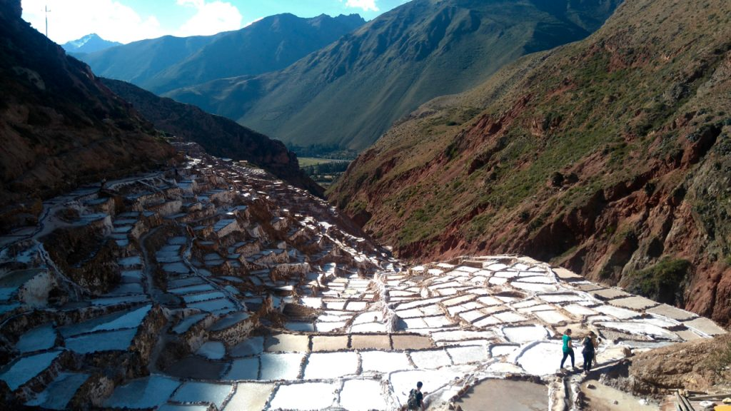 The salt ponds.